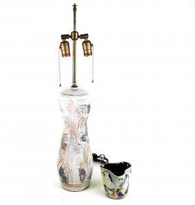 Ceramic Lamp And Vessel