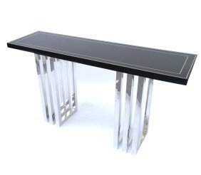 Modern Black And Chrome Console