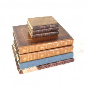 Group Of Leather Bound Books