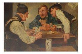 Carl Schutz, Three Men Playing Cards