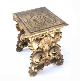 Ornate Gilt Wood Low Table