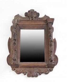 Ornate Figural Petite Mirror