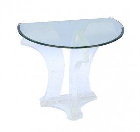 Jeffrey Bigelow Glass Top Lucite Table