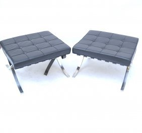 Pair Of Mies Van De Rohe Benches