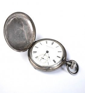 American Coin Silver Pocket Watch