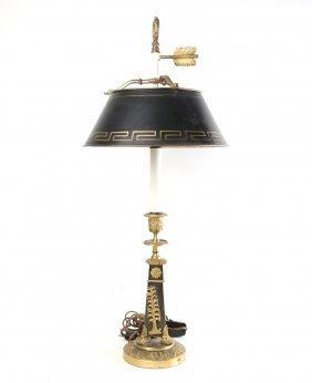 Empire Gilt Bronze Table Lamp