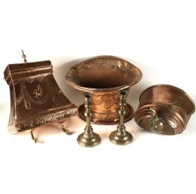 Group Of Five Copper & Brass Items