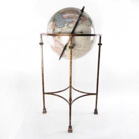 Globe On Metal Stand
