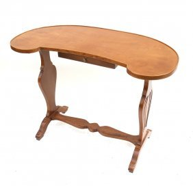 Fruitwood Kidney Shaped Work Table
