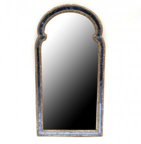 Antique Venetian Mirror With Blue Glass