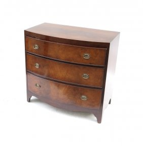 Sheraton Style Bow Front Chest