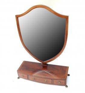 Regency Style Mahogany Shaving Mirror