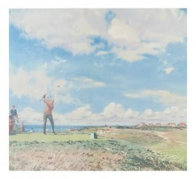 "Weaver, ""the Master Stroke"" Golf Print"