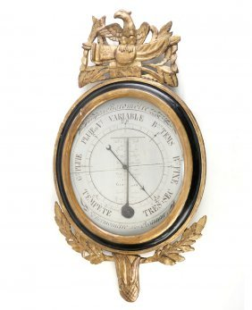 18th Century French Wooden Barometer