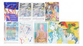 8 Posters: 5 Signed De Kooning, Others