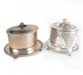 Hunt And Roskell Sterling Biscuit Box