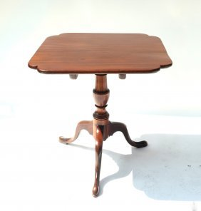 Queen Anne-style Mahogany Tilt-top Table