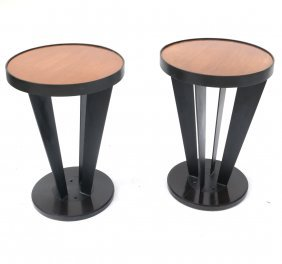 Pair Of Deco-style Small Side Tables