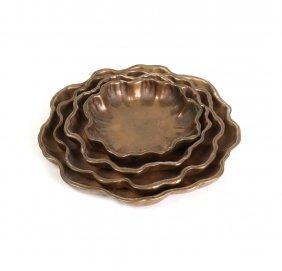 Tiffany Studios Nesting Nut Dishes