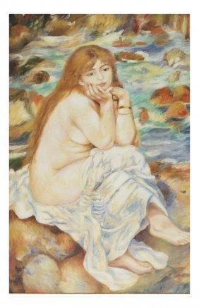 After Renoir, Female Nude Portrait