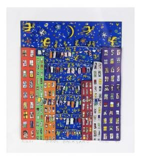 "James Rizzi, ""Birds Backyard""- 3-D Litho"