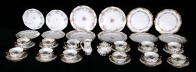 MISC. LOT OF LIMOGES CHINA. CONSISTING OF TEA CUPS, SAU