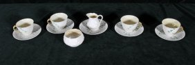 12 PIECES OF BELLEEK PORCELAIN. CONSISTING OF CUPS, SAU