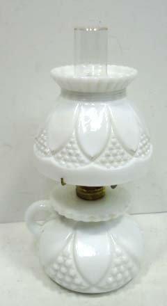 Milk NGlass Mini G.W.T.W. Oil Lamp