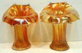 Pr. Carnival Glass Vases