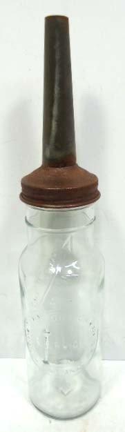 Glass 1 Qt. Motor Oil Bottle