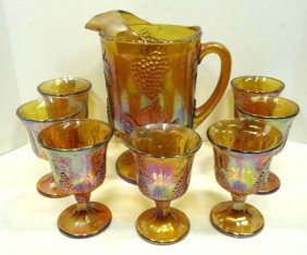 Indiana Glass Carnival Water Set