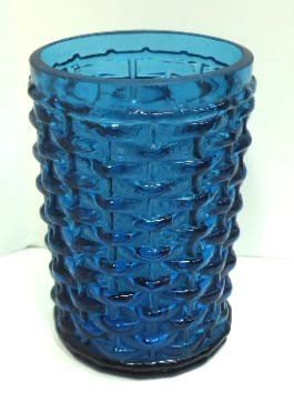 Vict. Blue Basketweave Tumbler