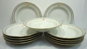 11pc Soup Bowls Signed C.H. Pillivuyt Paris