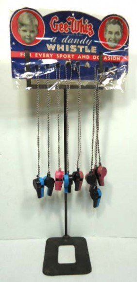 Store Rack & Whistle Display