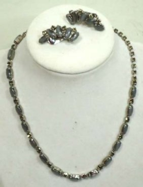 Vintage Necklace W/ Earrings