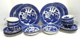20pc Blue Willow China
