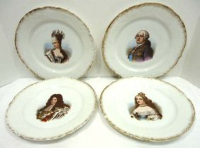4pc HP Austria Portrait Plates