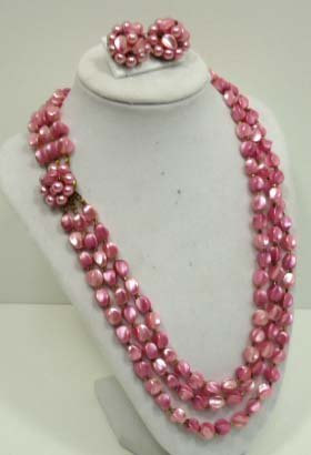 3 Strand Necklace & Earrings
