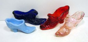 4 Fenton Glass Shoes
