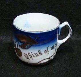 Flow Blue Victorian Cup