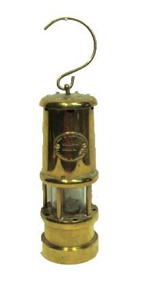 Early Brass Miner's Lantern