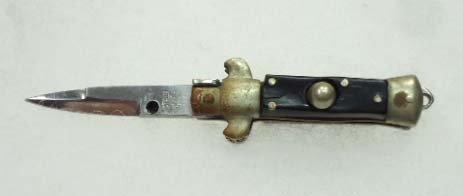 vintage mini switch blade pocket knife