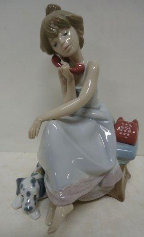 "Lladro Figure Chit Chat Girl"""