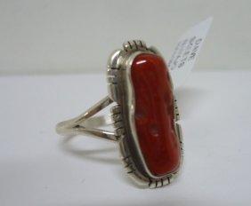 Navajo Coral Ring