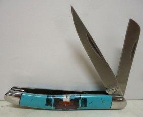 Multi Stone Inlaid Pocket Knife
