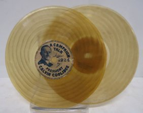 1924 Record By President Calvin Coolidge