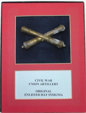 Civil War Union Artillery Hat Insignia