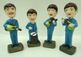 Set Of Beatles Nodders ( Reproduction)