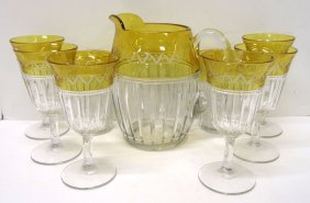 9pc Etched Water Set