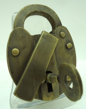 Brass B.& O. Railroad Lock Modern